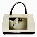 swan Twin-sided Black Tote Bag Front