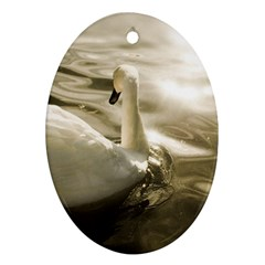 Swan Ceramic Ornament (oval) by artposters
