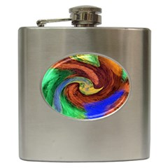 Culture Mix Hip Flask by dawnsebaughinc