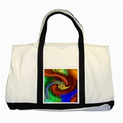 Culture Mix Two Toned Tote Bag by dawnsebaughinc