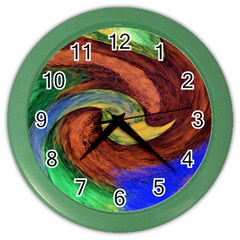 Culture Mix Colored Wall Clock by dawnsebaughinc