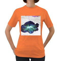 Exotic Hybiscus   Dark Colored Womens'' T-shirt by dawnsebaughinc