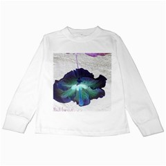 Exotic Hybiscus   White Long Sleeve Kids'' T-shirt by dawnsebaughinc