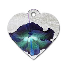 Exotic Hybiscus   Twin Sided Dog Tag (heart) by dawnsebaughinc