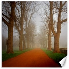 Foggy Morning, Oxford 12  X 12  Unframed Canvas Print by artposters