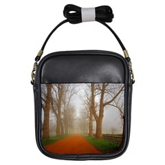Foggy Morning, Oxford Kids  Sling Bag by artposters