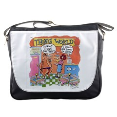 Thong World Messenger Bag by mikestoons