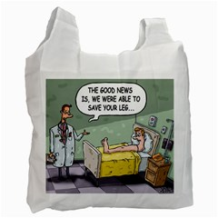 The Good News Is     Twin Sided Reusable Shopping Bag by mikestoons