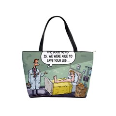 The Good News Is     Large Shoulder Bag by mikestoons