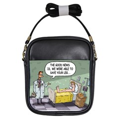 The Good News Is     Kids  Sling Bag by mikestoons