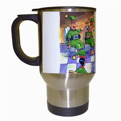 Elf Help Group White Travel Mug by mikestoons