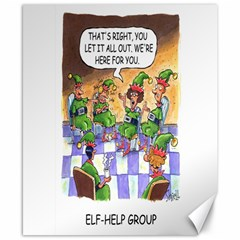 Elf Help Group 8  X 10  Unframed Canvas Print by mikestoons