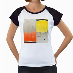 Geometry White Cap Sleeve Raglan Womens  T Shirt by artposters