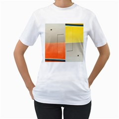 Geometry White Womens  T Shirt by artposters