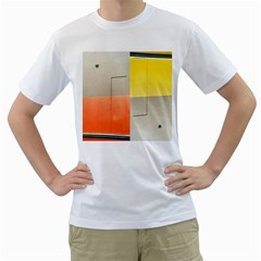 Geometry White Mens  T Shirt