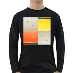 Geometry Dark Colored Long Sleeve Mens'' T Shirt by artposters