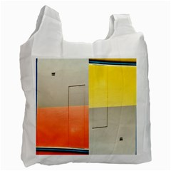 Geometry Twin Sided Reusable Shopping Bag by artposters