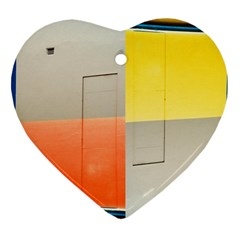 Geometry Ceramic Ornament (heart) by artposters