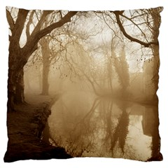 Misty Morning Large Cushion Case (one Side) by artposters