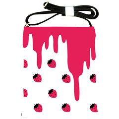 Melting Strawberry Cross Shoulder Sling Bag by strawberrymilk