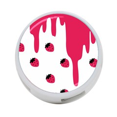 Melting Strawberry Twin Sided 4 Port Usb Hub (round)