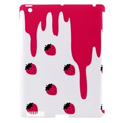 Melting Strawberry Apple Ipad 3/4 Hardshell Case (compatible With Smart Cover)