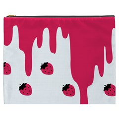 Melting Strawberry Cosmetic Bag (xxxl) by strawberrymilk