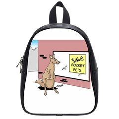Kangaroo Shopping For Pocket Pcs Small School Backpack by ColemantoonsFunnyStore