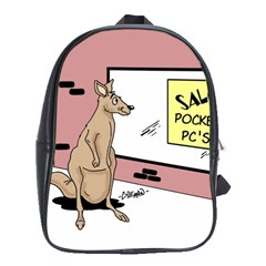 Kangaroo Shopping For Pocket Pcs School Bag (xl) by ColemantoonsFunnyStore