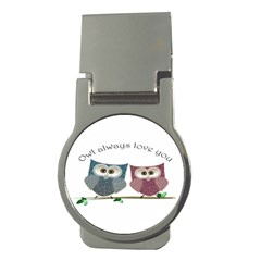 Owl Always Love You, Cute Owls Money Clip (round)