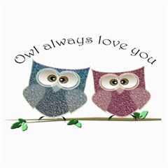 Owl Always Love You, Cute Owls 12  X 16  Unframed Canvas Print by DigitalArtDesgins