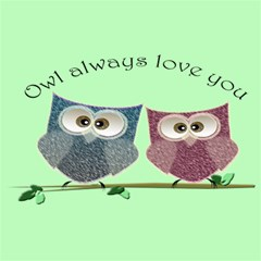 Owl Always Love You, Cute Owls 20  X 20  Unframed Canvas Print by DigitalArtDesgins