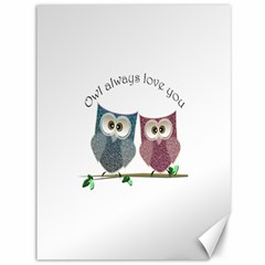 Owl Always Love You, Cute Owls 36  X 48  Unframed Canvas Print by DigitalArtDesgins