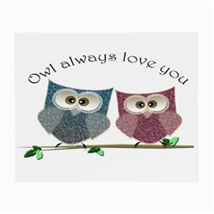 Owl Always Love You, Cute Owls Twin Sided Glasses Cleaning Cloth
