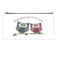 Owl Always Love You, Cute Owls Pencil Case by DigitalArtDesgins