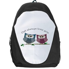 Owl Always Love You, Cute Owls Backpack Bag by DigitalArtDesgins