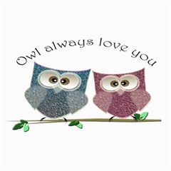 Owl Always Love You, Cute Owls 20  X 24  Unframed Canvas Print by DigitalArtDesgins
