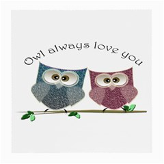 Owl Always Love You, Cute Owls Single-sided Large Glasses Cleaning Cloth by DigitalArtDesgins