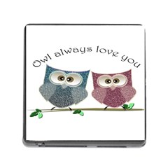 Owl Always Love You, Cute Owls Card Reader With Storage (square) by DigitalArtDesgins