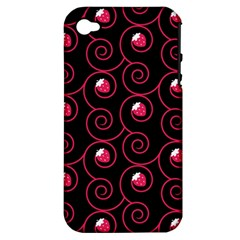 20130503 Oriental Black Apple Iphone 4/4s Hardshell Case (pc+silicone) by strawberrymilk