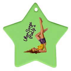 Pin Up Girl 4 Twin-sided Ceramic Ornament (star) by UberSurgePinUps