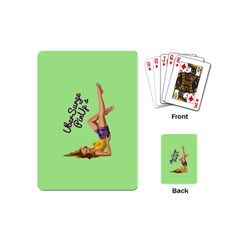 Pin Up Girl 4 Playing Cards (mini) by UberSurgePinUps