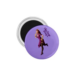 Pin Up 3 Small Magnet (round) by UberSurgePinUps