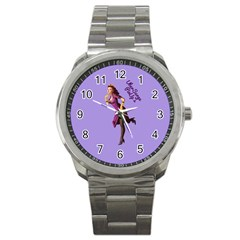Pin Up 3 Stainless Steel Sports Watch (round) by UberSurgePinUps