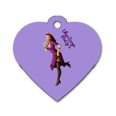 Pin Up 3 Twin Sided Dog Tag (heart) by UberSurgePinUps