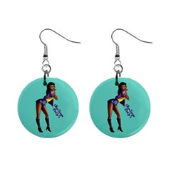 Pin Up 2 Mini Button Earrings by UberSurgePinUps