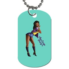 Pin Up 2 Single Sided Dog Tag by UberSurgePinUps
