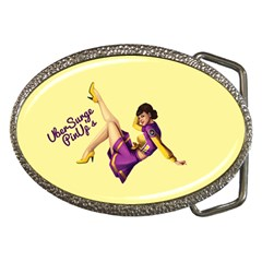 Pin Up Girl 1 Belt Buckle by UberSurgePinUps