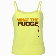 What The Fudge Yellow Spaghetti Top by VaughnIndustries