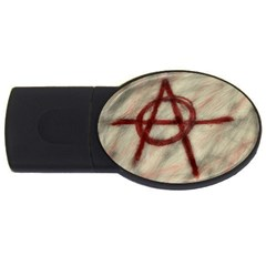 Anarchy 2gb Usb Flash Drive (oval) by VaughnIndustries
